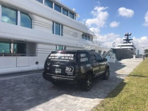Our Mobile Locksmith Services Unit Arrives To Miami Marina To Provide Emergency Services For The Boats And The Yachts At Miami FL Harbor