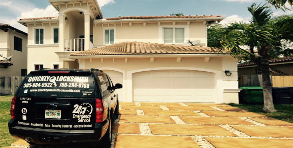 Our Mobile Locksmiths Unit Provides Residential Locksmith Services In a Home At Miami Beach