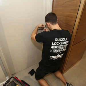 Unlocking a locked door & Providing Residential Locksmith Services in Miami FL