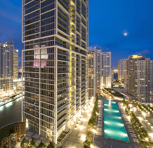 View of Downtown Brickell Miami After Finishing Nice Project Of Commercial Locksmith Services in Brickell City Centre