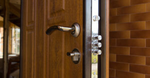 New steel three bolt door lock after installation made by our Quickly locksmiths technicians