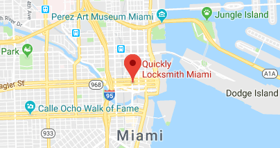 Google Maps Location Pin - Quickly Locksmith Miami