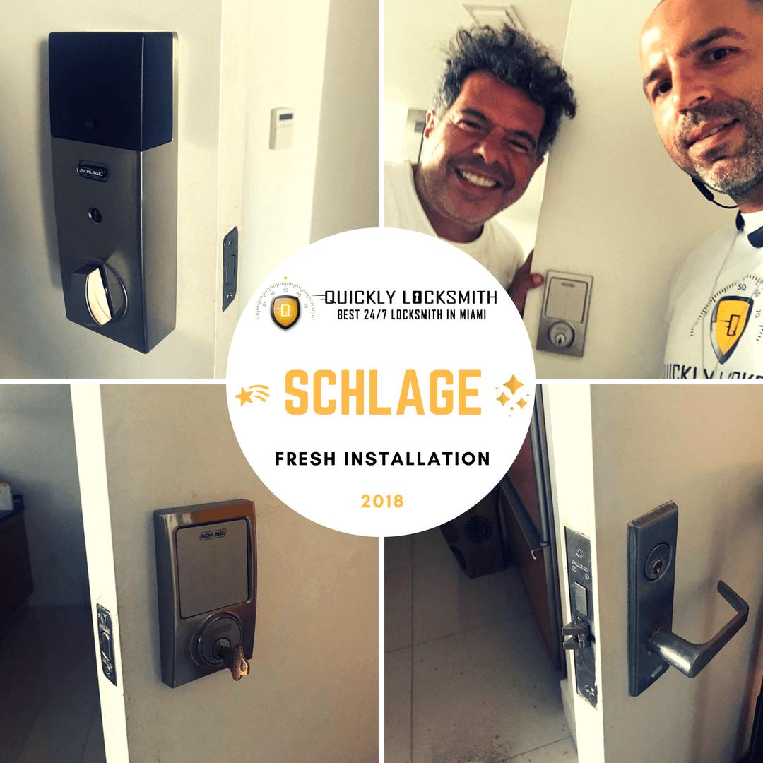 schlage locks fresh installation